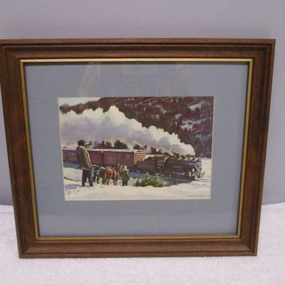 Lot 3 - Woodsman Waving At Train - Print