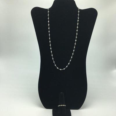 Lot 2 - Sterling and CZ Necklace & Ring
