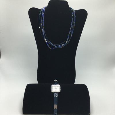Lot 3 - Blue Lapis Necklace & Watch