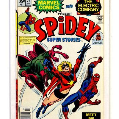 SPIDEY SUPER STORIES #22 Early Ms Marvel 1977 Marvel & The Electric Company