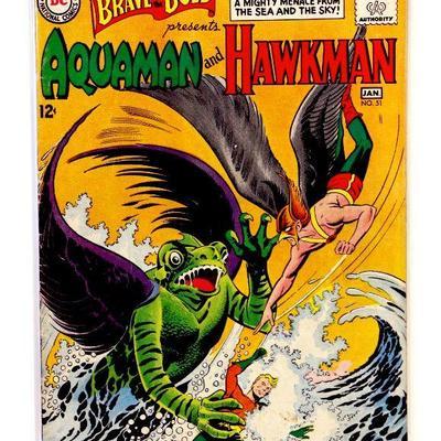 BRAVE and the BOLD #51 AQUAMAN and HAWKMAN 1963/64 DC Comics