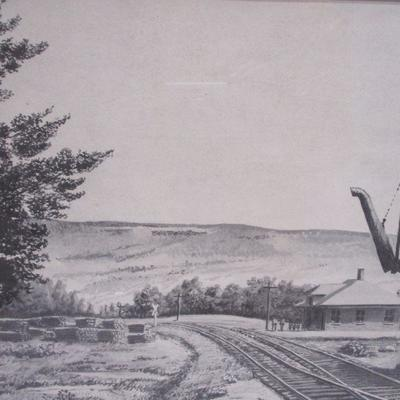 Lot 4 - Black & White Railroad Picture