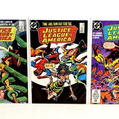 JUSTICE LEAGUE of AMERICA #247 #249 #252 Comic Books Set 1986 DC Comics