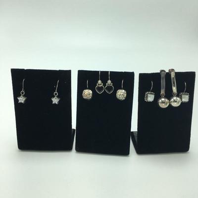 Lot 4 - Five Pairs of Drop Earrings