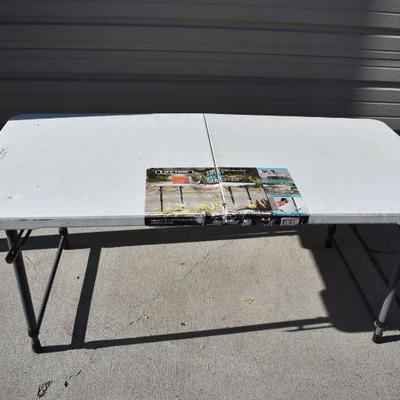 White Foldable Table 4 FT