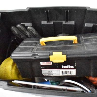3 Piece Tool Box/Roller Full of Various Tools