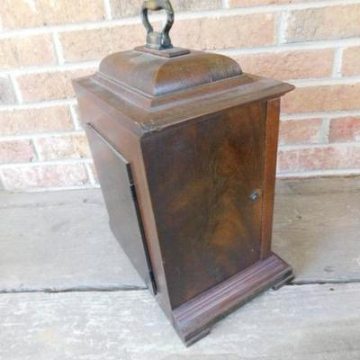 Vintage Seth Thomas Mantel Clock with Walnut Case