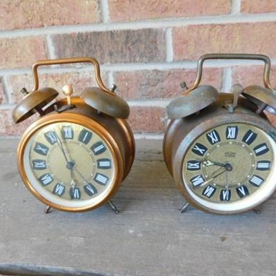 Set of Vintage MOM Wind Up Alarm Clocks