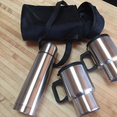 Lot 1003: Insulated Cups & Thermos