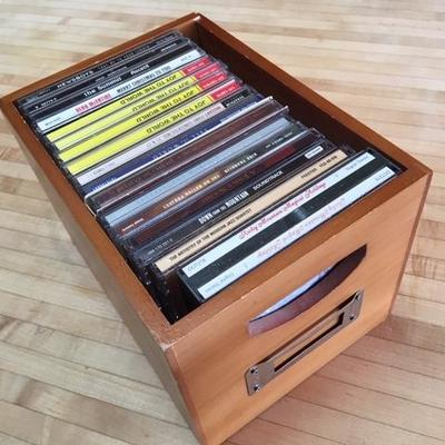 Lot 1004: CD's in Wooden Box