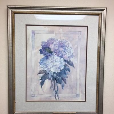 Lot 1015: Blue Flower Print