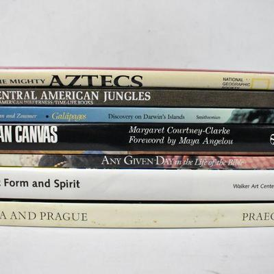 7 Coffee Table Books Various Countries: Aztekc-Kafka & Prague - 5 are Hardcover