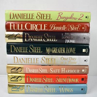 8 Hardcover Books by Danielle Steel: Bungalow 2 -to- Wings