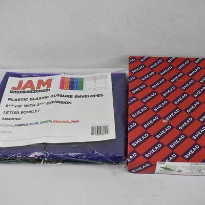 JAM Plastic Elastic Envelopes & Smead ET Classification Folders QTY 10 - New