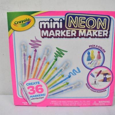 Crayola Mini Neon Marker Maker - New