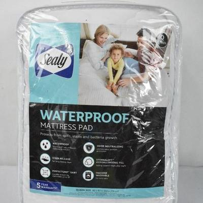 Sealy Waterproof Mattress Pad, Queen - New