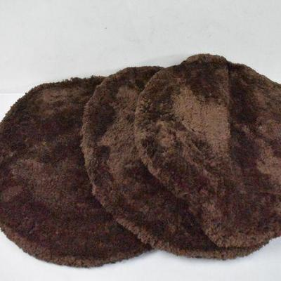 3 Brown Toilet Seat Covers - New