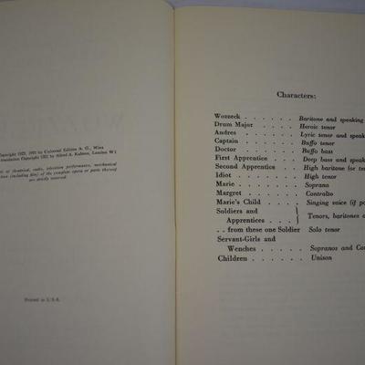 5 Opera Libretto Booklets. Italian Singing & Opera Lyrics