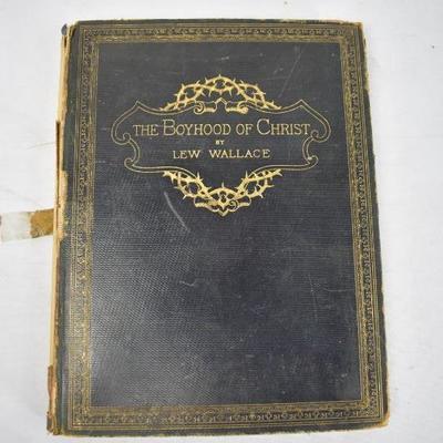 Antique 1888 Book The Boyhood of Christ