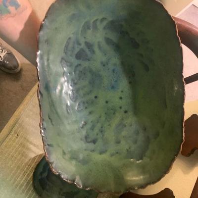 Vintage Art Pottery Hand Thrown Serving Set- SIgned