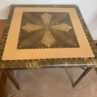 Mid century Folding Game Table