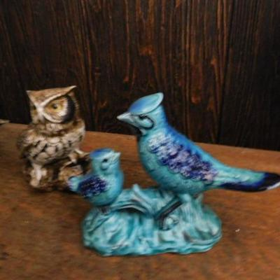 Set of Three Vintage Japanese Ceramic Birds Homco and Tilso