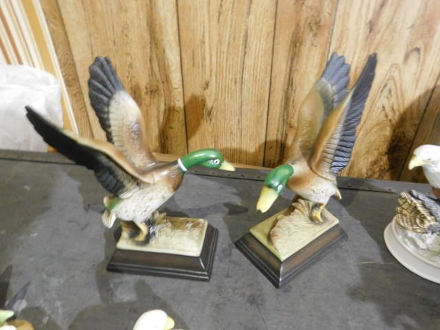 Collection of Ceramic Birds in Flight and Others