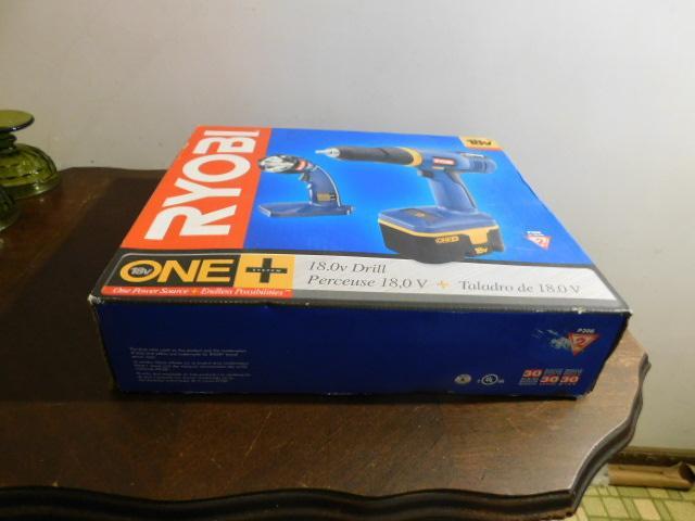 Ryobi 18V Drill and Flashlight Tool Set New in Box