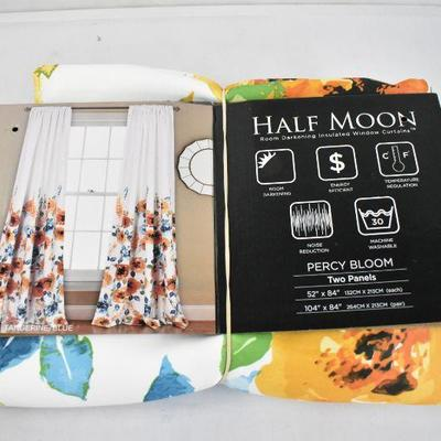 Half Moon Room Darkening Insulated Window Coverings