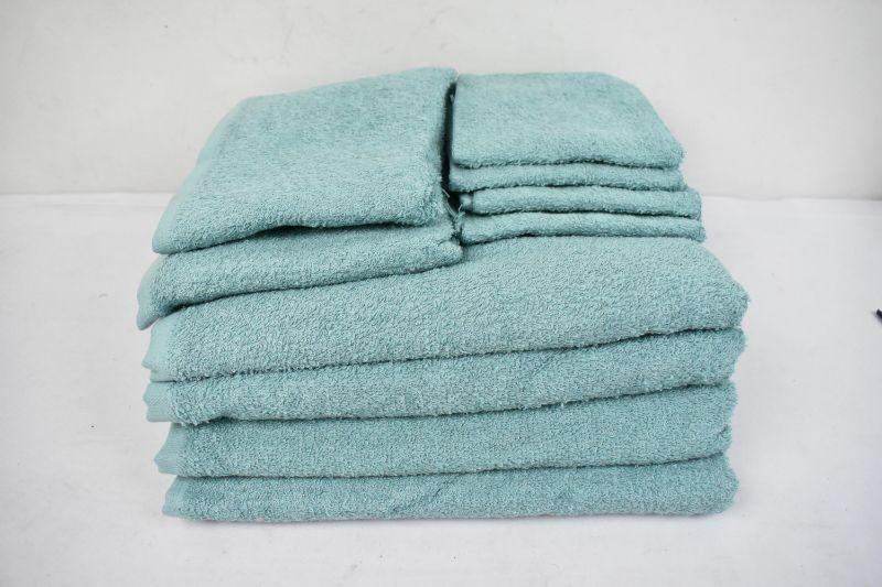 "10 Piece Mainstays Towel Set ""Blue Cameo"" 4 Bath Towels 2 Hand Towel, 4 Washcloths - New"