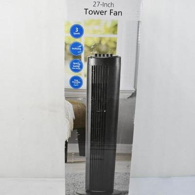 Mainstays 27 Tower Fan Black