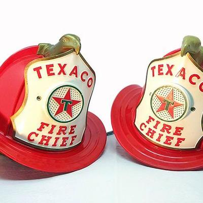 13-Fireman hats, WenMac made in USA Texaco Fire Chief #1