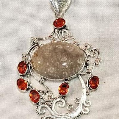 Large Jasper pendant