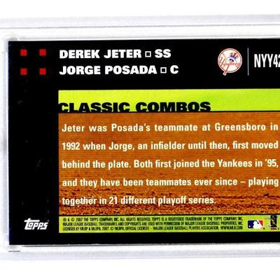 2007 TOPPS DEREK JETER JORGE POSADA Classic Combo NYY42 Limited Edition BASEBALL CARD