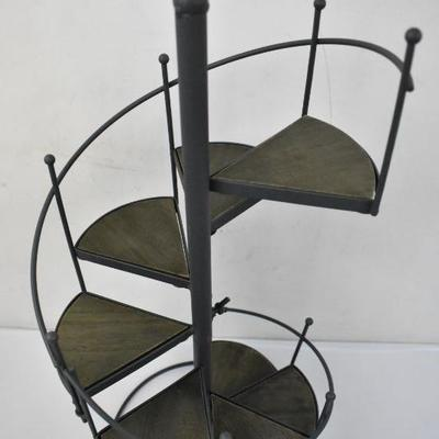 Small Spiral Showcase Plant Stand Indoor Outdoor Patio Garden Decor - New