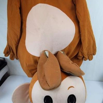 Adult Boy Monkey Mascot Costume, Needs to be Cleaned, Includes Body, Head, Feet