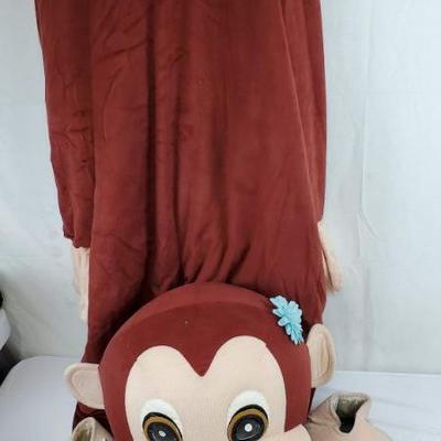 Adult Girl Monkey Mascot Costume, Needs to be Cleaned, Includes Body, Head, Feet
