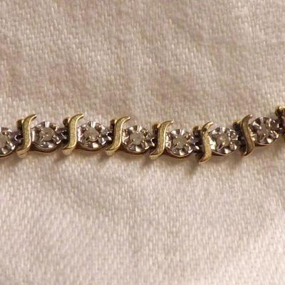10k Gold and Diamond Bracelet