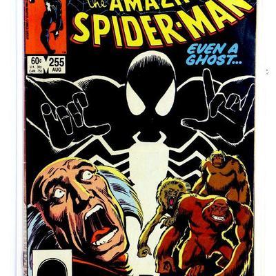 AMAZING SPIDER-MAN #255 Key Comic Book 1st Appearance BLACK FOX 1984 Marvel Comics