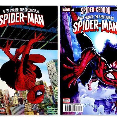Peter Parker SPECTACULAR SPIDER-MAN #310 #311 Comic Book Set 2017 Marvel Comics