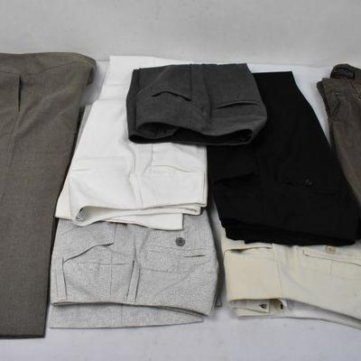 7 Piece Women's Clothing Size 00/24: 5 Dress Pants by Express & 2 by Guess