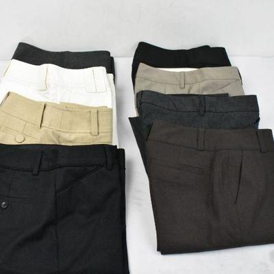 8 Piece Women's Dress Pants: Size 0 & 0P Express, Ann Taylor, & Banana Republic
