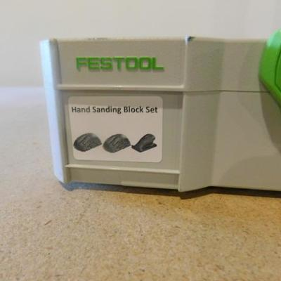 Festool Brand 3 Hand Sanding Block Set in Festool Storage Case