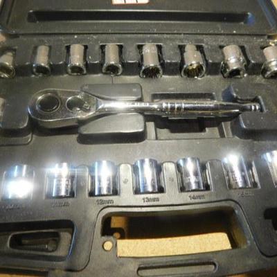 Stanley Meteric Socket Set 20 Pc