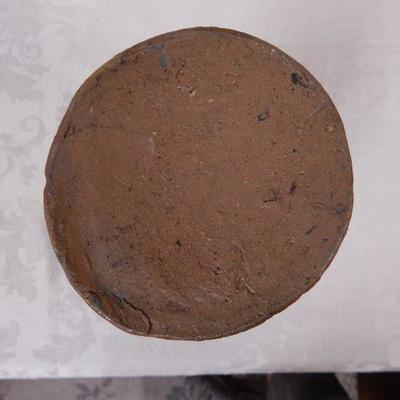 Tan Stoneware Jar / Salt Crock (No Lid) 10