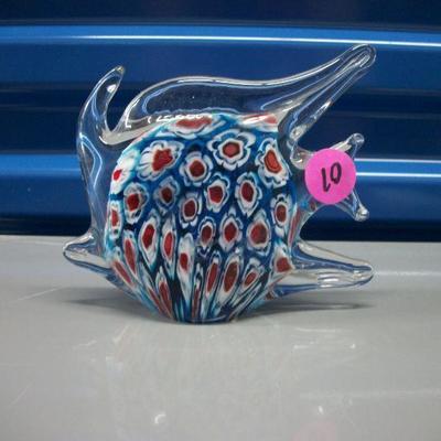 Millifiori Angel Fish Figurine/Paperweight