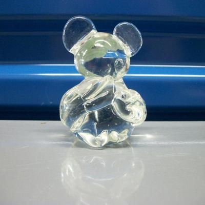 Clear Glass Mouse Figurine/Paperweight
