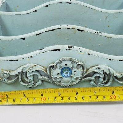 Small Blue Distressed Letter/Organizer - Needs Cleaning