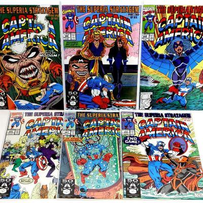 CAPTAIN AMERICA #387-392 SUPERIA STRATAGEM COMPLETE SET 1991 MARVEL COMICS VF/NM