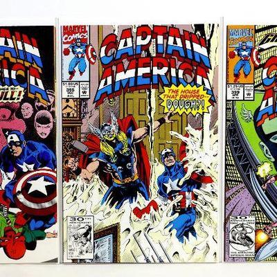 CAPTAIN AMERICA #394 #395 #399 RED SKULL 1991/92 MARVEL COMICS VF/NM